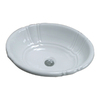 Barclay Lisbon Ceramic Drop-in Oval Bathroom Sink with Overflow