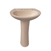 Barclay Hampshire 33-in H Bisque Vitreous China Pedestal Sink