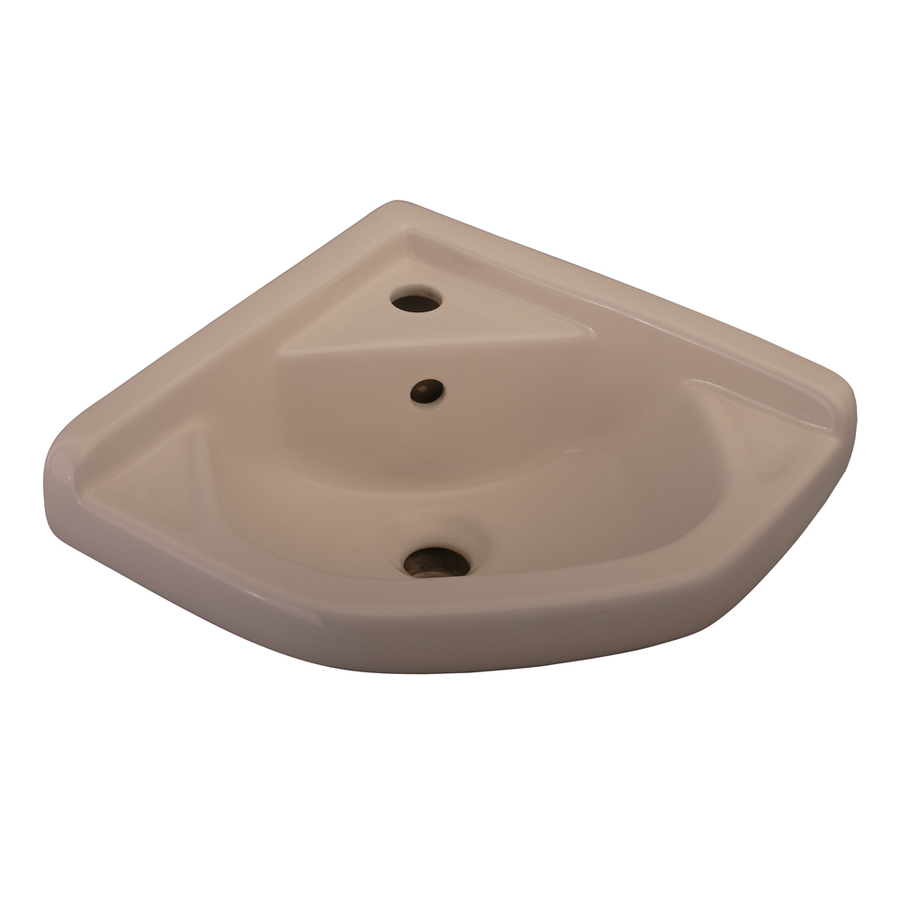 ... Bisque Wall-Mount Oval Bathroom Sink with Overflow at Lowes.com