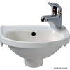 Barclay Rosanna Wall-Mount Round Bathroom Sink with Overflow