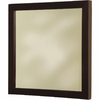 Barclay 23-5/8-in H x 23-5/8-in W Fontana Wenge Square Bathroom Mirror