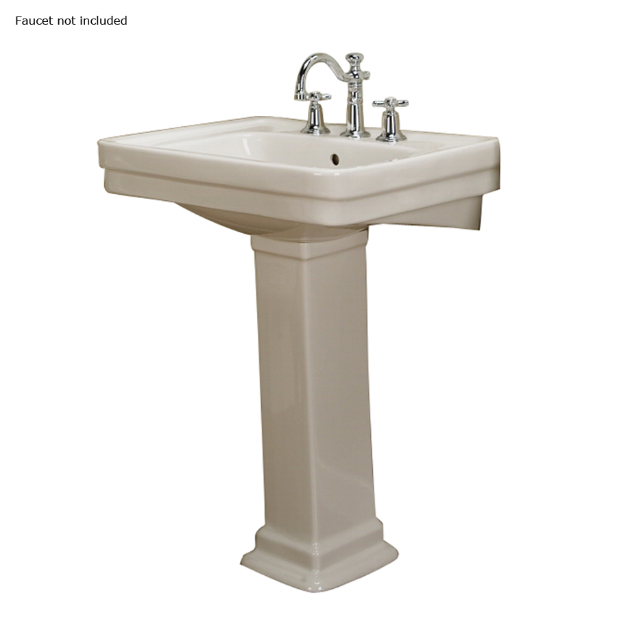 ... 34.5-in H Bisque Vitreous China Complete Pedestal Sink at Lowes.com