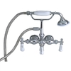 Barclay Satin Brushed Nickel 3-Handle Bathtub and Shower with Handheld Showerhead