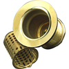 Barclay 2-1/2-in dia Polished Brass Twist and Lock Sink Strainer