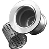 Barclay 2-1/2-in dia Chrome Twist and Lock Sink Strainer and Disposal Flange Combo