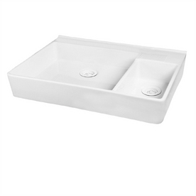Barclay Double-Basin Fireclay Apron Front Kitchen Sink