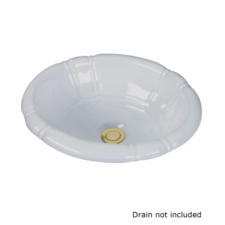 Shop Barclay Sienna White Drop In Oval Bathroom Sink With Overflow At