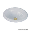 Barclay Sienna Drop-In Oval Bathroom Sink with Overflow