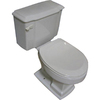 Barclay Constitution White 1.6 GPF Elongated 2-Piece Toilet