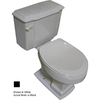 Barclay Constitution Black 1.6 GPF Elongated 2-Piece Toilet
