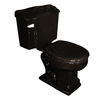 Barclay Stanford Black 1.6 GPF Round 2-Piece Toilet