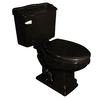 Barclay Stanford Black 1.6 GPF High Efficiency Elongated 2-Piece Toilet