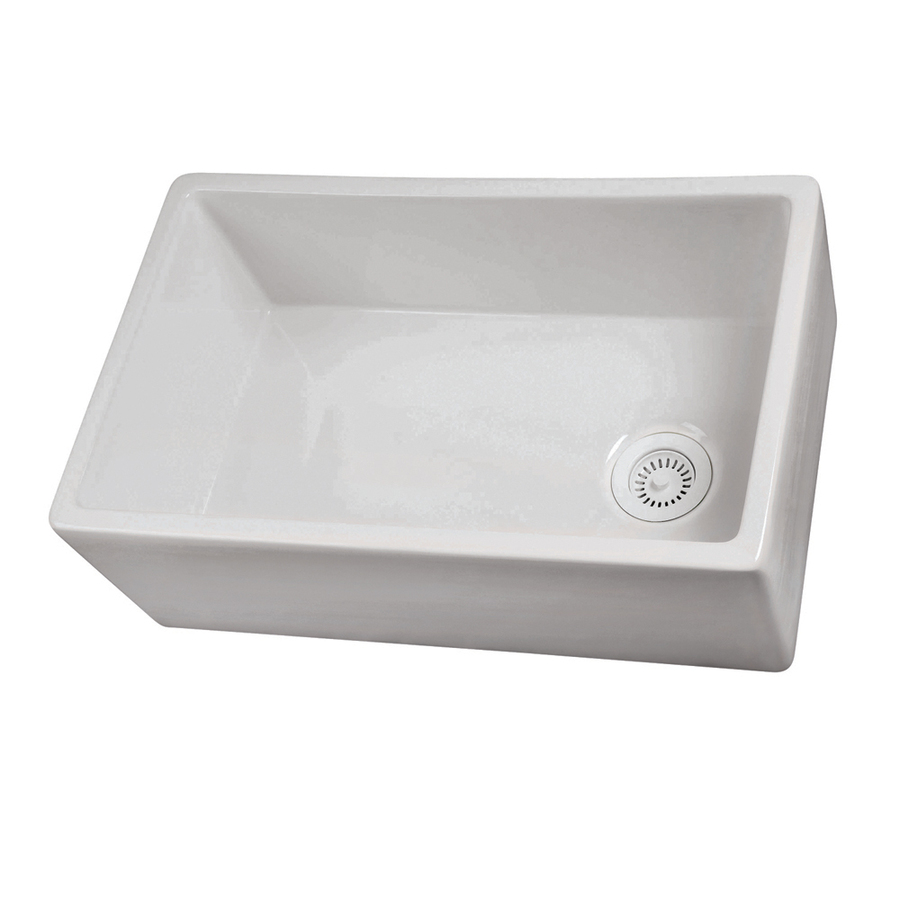 Lowes Farmhouse Sink : ... Single-Basin Apron front/Farmhouse Fireclay Kitchen Sink at Lowes.com