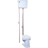Barclay Victoria White 1.6-GPF (6.06-LPF) 12-in Rough-in Round 2-Piece Standard Height Toilet