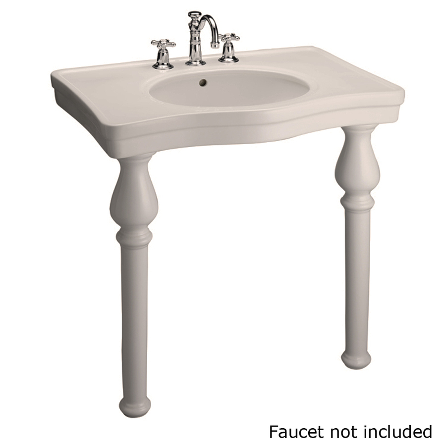 Lowes Bathroom Sinks : ... Bisque Wall-Mount Rectangular Bathroom Sink with Overflow at Lowes.com