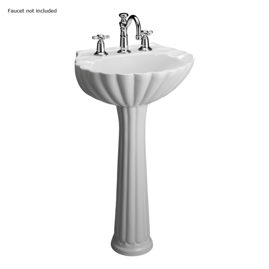 Barclay Bali 35.37-in H White Vitreous China Complete Pedestal Sink ...