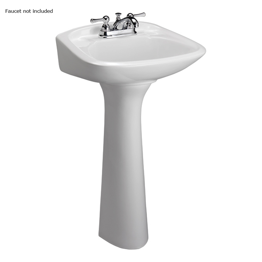 ... 32.5-in H White Vitreous China Complete Pedestal Sink at Lowes.com