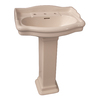 Barclay Stanford 35.87-in H Bisque Vitreous China Pedestal Sink
