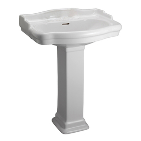 Barclay Stanford 35.5-in H White Vitreous China Pedestal Sink
