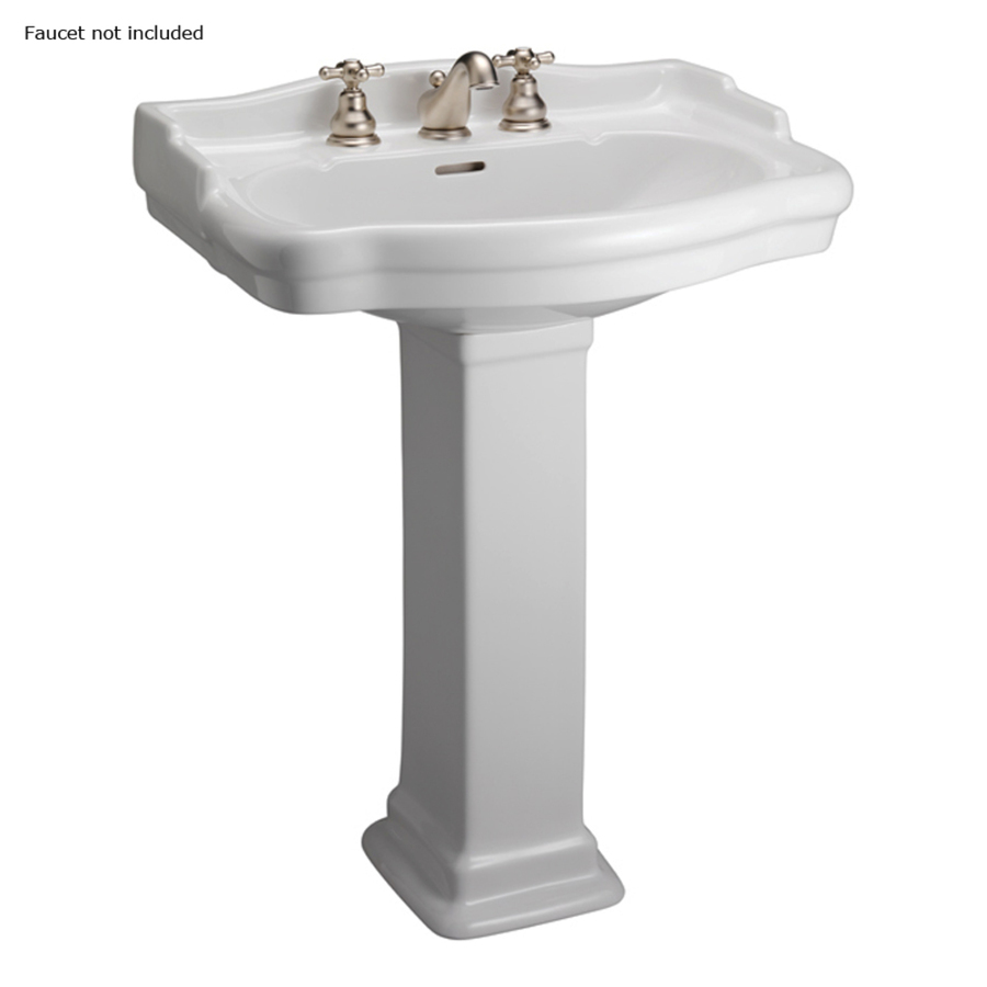 Bathroom Sink Mirror : ... 35.5-in H White Vitreous China Complete Pedestal Sink at Lowes.com
