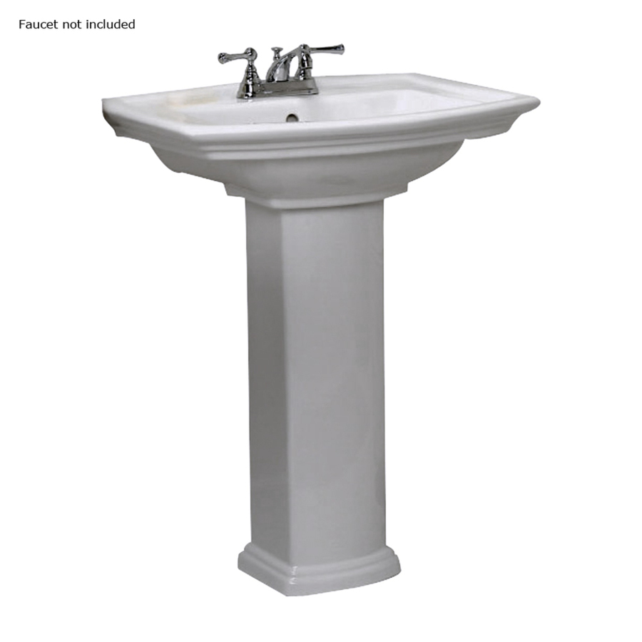 ... 33.5-in H White Vitreous China Complete Pedestal Sink at Lowes.com