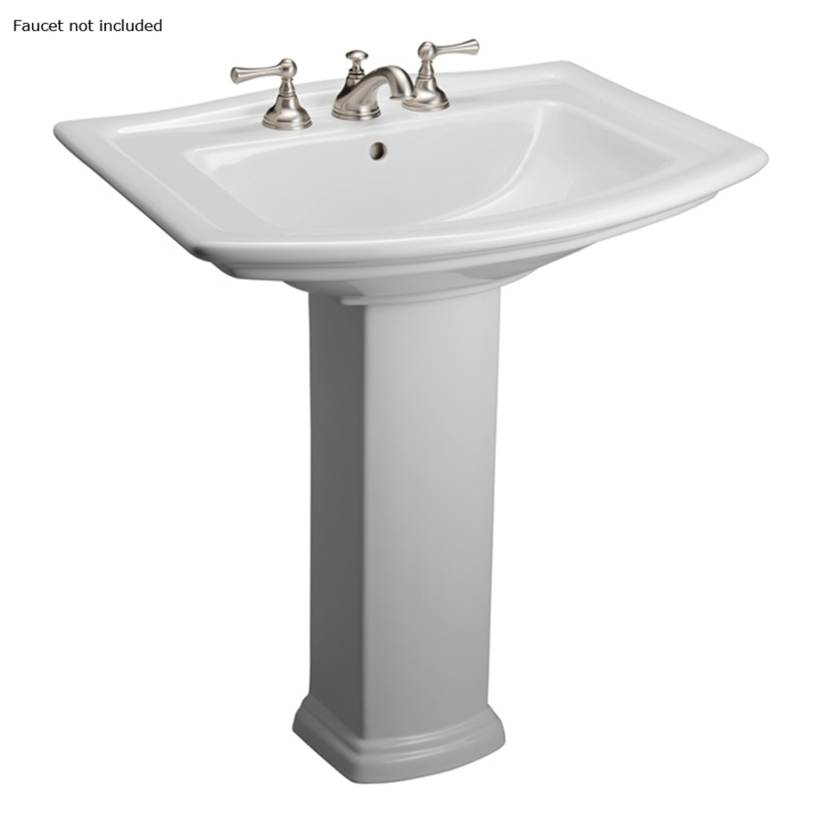 ... 32.75-in H White Vitreous China Complete Pedestal Sink at Lowes.com