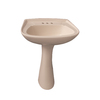 Barclay Hartford 34.12-in H Bisque Vitreous China Pedestal Sink