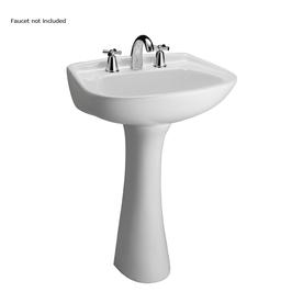 Barclay Hartford 34.12-in H White Vitreous China Pedestal Sink
