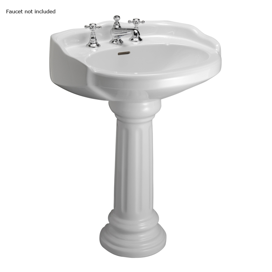 ... 34.12-in H White Vitreous China Complete Pedestal Sink at Lowes.com