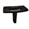 Barclay Galaxy 33.12-in H Black Vitreous China Pedestal Sink