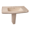Barclay Galaxy 33.12-in H Bisque Vitreous China Pedestal Sink