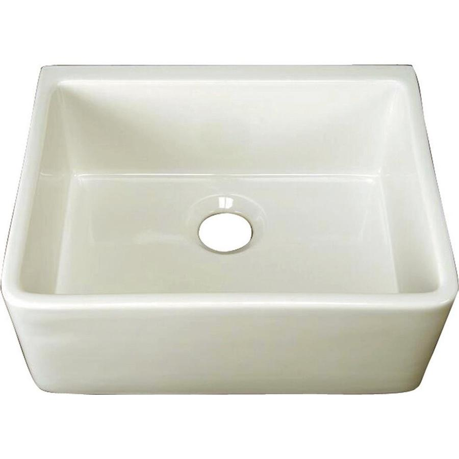 Bib Sink : Single-Basin Apron front/Farmhouse Fireclay Kitchen Sink at Lowes.com