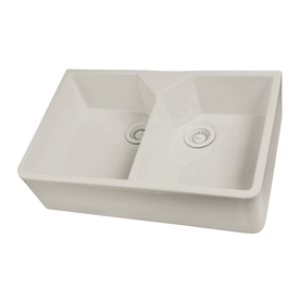 Apron Front Bar Sink : & Bar Sinks Kitchen Sinks Barclay Bisque Double-Basin Apron Front ...