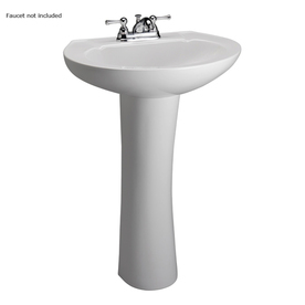 Barclay 31-1/2-in H Hampshire White Vitreous China Complete Pedestal Sink