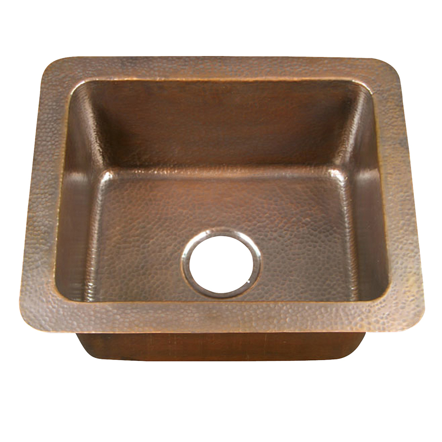 Shop barclay 16 gauge single basin drop in copper kitchen - Copper drop in kitchen sink ...