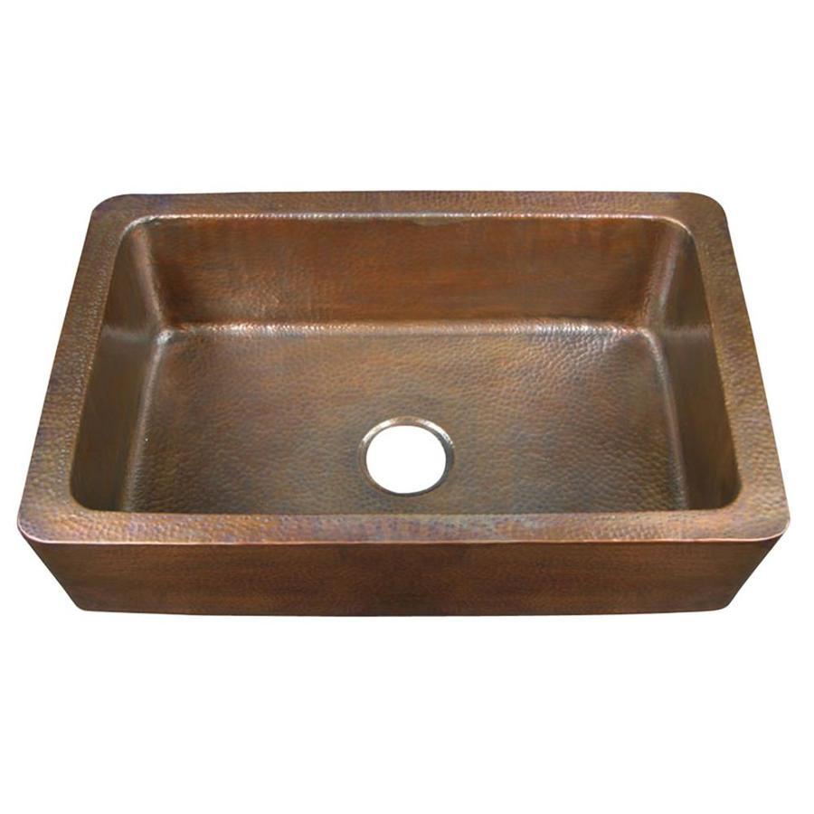 ... Single-Basin Apron Front/Farmhouse Copper Kitchen Sink at Lowes.com