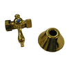Barclay Polished Brass Quarter-Turn Straight Valve