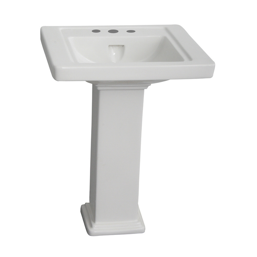 Barclay Empire 33-in H White Vitreous China Complete Pedestal Sink ...