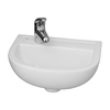 Barclay Compact White Wall-Mount Round Bathroom Sink