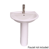 Barclay Karla 33-in H White Vitreous China Pedestal Sink
