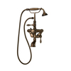 Barclay Claw Foot Tub Fillers Oil-Rubbed Bronze 3-Handle Adjustable Tub Faucet