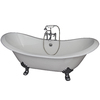 Barclay Cast Iron Oval Clawfoot Bathtub with Center Drain (Common: 30-in x 71-in; Actual: 30-in x 30.5-in x 71-in)