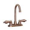 Barclay Dakota Antique Copper 2-Handle 4-in Centerset Bathroom Sink Faucet