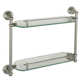 Elegant Modern Rustic Bathroom Shelf With 24 Brushed Nickel By KeoDecor