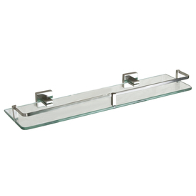 shop barclay jordyn brushed nickel glass bathroom shelf at. Black Bedroom Furniture Sets. Home Design Ideas