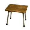 Barclay Aluminum Teak Freestanding Shower Seat