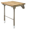 Barclay Stainless Steel Teak Wall Mount Shower Seat