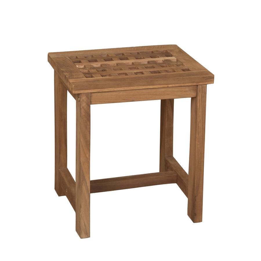 Barclay Honey Teak Freestanding Shower Seat
