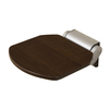 Barclay Satin Silver Teak Wall Mount Shower Seat