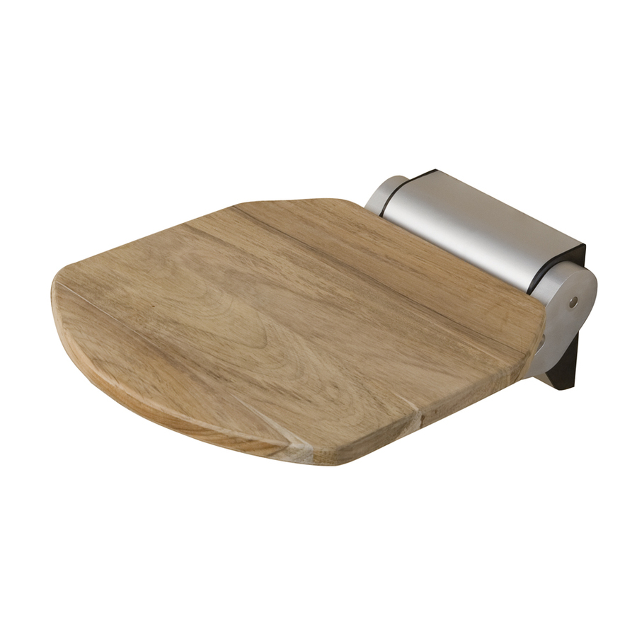 Shop Barclay Teak Wall Mount Shower Seat at Lowes.com